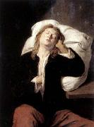 David Ryckaert Man Sleeping oil painting